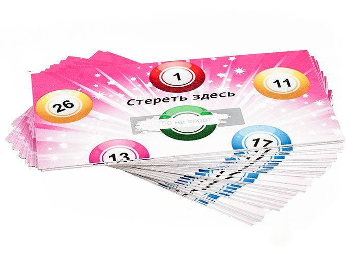 Скретч коле для розыгрыша призов. Изготовление скотч карт