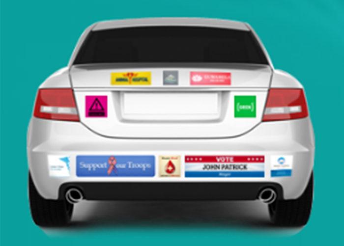 Печать наклеек на машину. Где заказать стикеры для автомобиля.