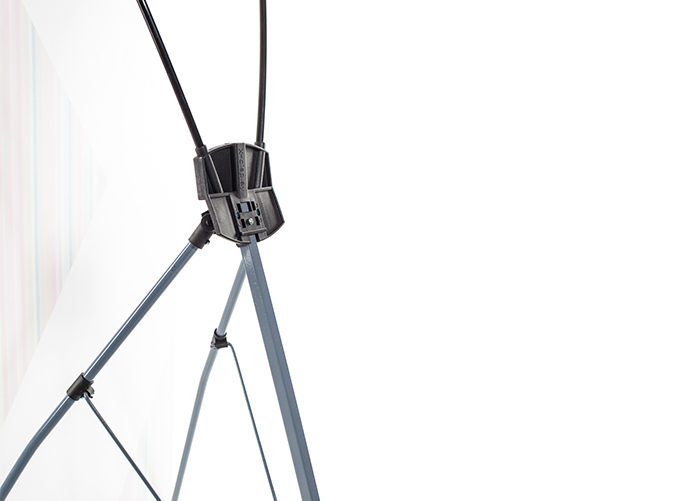 Конструкция стенда х-баннер. Быстрое и удобное сложение. Как разложить мобильный стенд